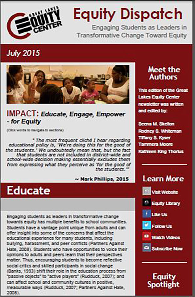 Engaging Students as Leaders in Transformative Change Toward Equity