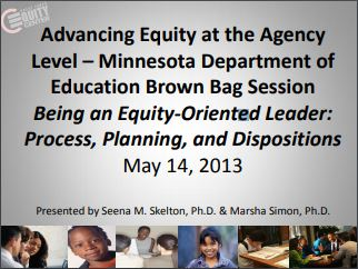 Being an Equity-Oriented Leader: Process, Planning, and Dispositions