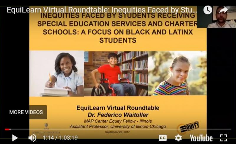 EquiLearn Virtual Roundtable: Inequities Faced by Students with Disabilities and Charter Schools