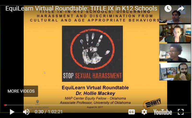 EquiLearn Virtual Roundtable: TITLE IX in K12 Schools