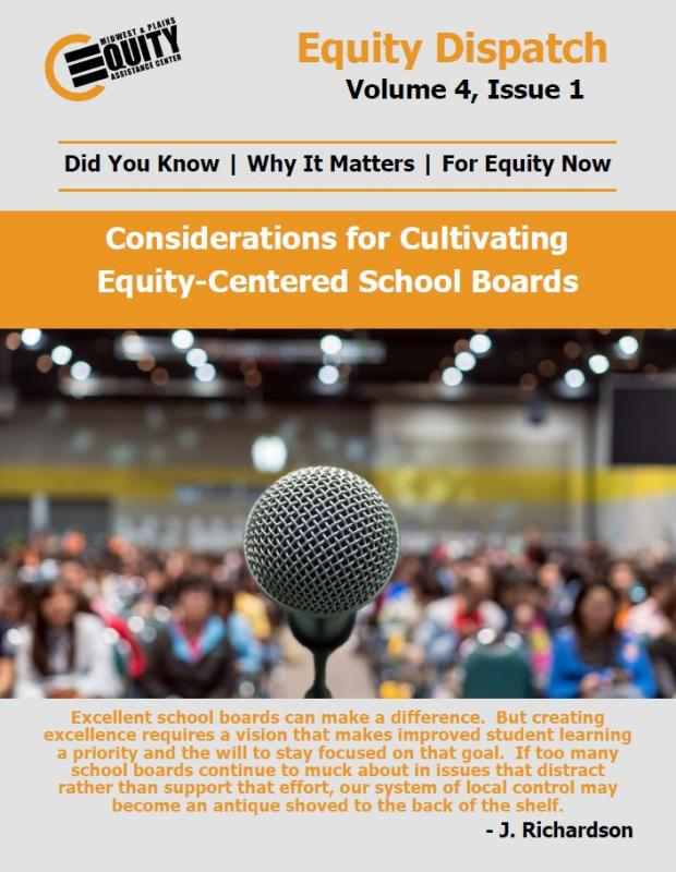 Considerations for Cultivating Equity-Centered School Boards