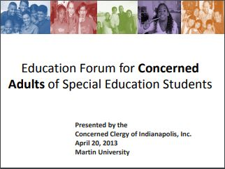 Education Forum for Concerned Adults of Special Education Students