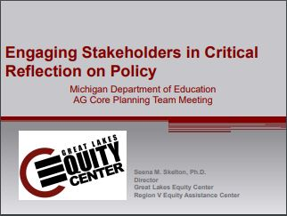 Engaging Stakeholders in Critical Reflection on Policy
