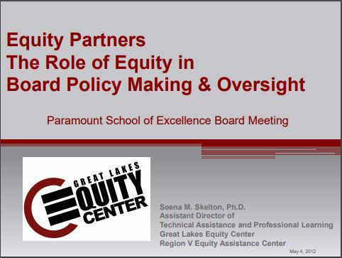 Equity Partners: The Role of Equity in Board Policymaking and Oversight