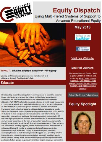 Using Multi-Tiered Systems of Support to Advance Educational Equity