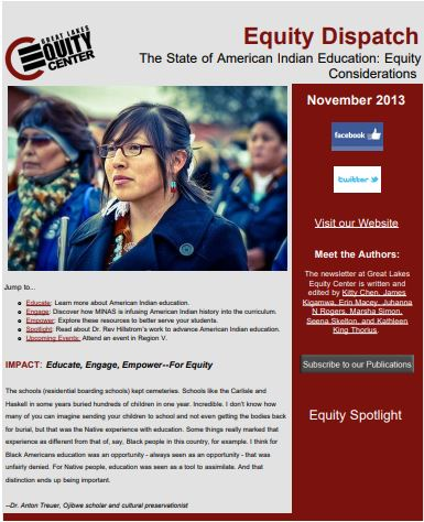 The State of American Indian Education: Equity Considerations