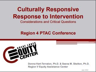 Culturally Responsive Response to Intervention: Considerations and Critical Questions