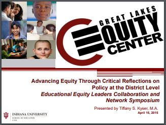 Advancing Equity Through Critical Reflections on Policy at the District Level