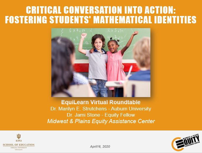 Critical Conversation into Action: Fostering Students' Mathematical Identities