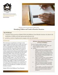 McKinney-Vento Law into Practice Brief Series: Identifying Children and Youth in Homeless Situations