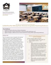 Best Practices in Homeless Education Brief Series: In School Every Day: Addressing Chronic Absenteeism Among Students Exeprincing Homelessness