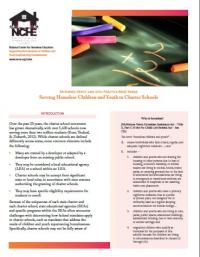 McKinney-Vento Law into Practice Brief Series: Serving Homeless Children and Youth in Charter Schools