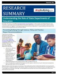 Understanding the Role of State Departments of Education