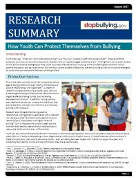 How Youth Can Protect Themselves from Bullying