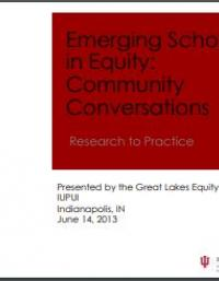 Emerging Scholars in Equity Presentations