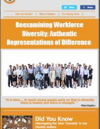 Reexamining Workforce Diversity: Authentic Representations of Difference