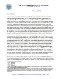 Dear Colleague Letter: Bullying