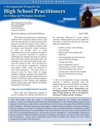 A Development Perspective for High School Practitioners on College and Workplace Readiness