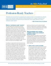 Profession-Ready Teachers