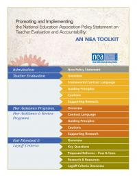 Promoting and Implementing the National Education Association Policy Statement on Teacher Evlauation and Accountability: An NEA Toolkit