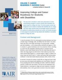 Improving College and Career Readingnes for Students with Disabilities