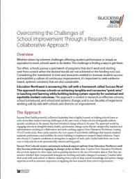 Overcoming the Challenges of School Improvement Through a Research-Based, Collaborative Approach
