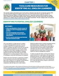 Chapter 1: Tools and Resources for Identifying All English Learners
