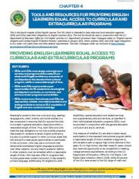 Chapter 4: Tools and Resources for Providing English Learners Equal Access to Curricular and Extracurricular Programs