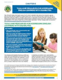 Chapter 6: Tools and Resources for Addressing English Learners with Disabilities