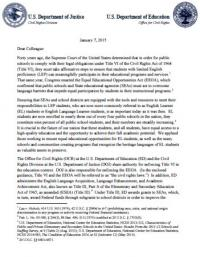 Dear Colleague Letter: English Learner Students and Limited English Proficient Parents
