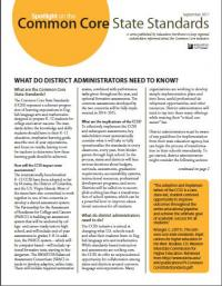 Spotlight on the Common Core State Standards: What Do District Administrators Need to Know?