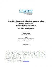 Does Developmental Education Improve Labor Market Outcomes? Evidence from Two States