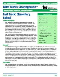 Fast Track: Elementary School