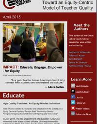 Toward an Equity-Centric Model of Teacher Quality
