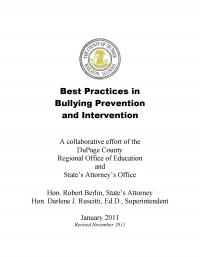Best Practices in Bullying Prevention and Intervention - DuPage County Regional Office of Education