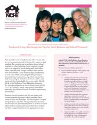 Best Practices in Homeless Education Brief Series: Students Living with Caregivers: Tips for Local Liaisons and School Personnel