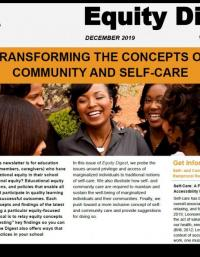 Equity Digest: Transforming the Concepts of Community and Self-Care