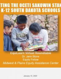 Implementing the Oceti Sakowin Standards in K-12 South Dakota Schools