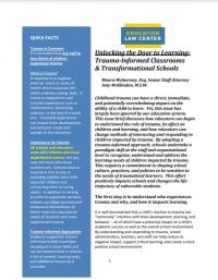 Unlocking the Door to Learning: Trauma-Informed Classrooms & Transformational Schools