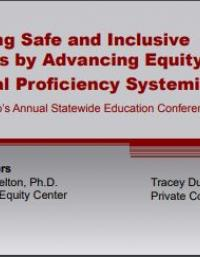 Creating Safe and Inclusive Schools by Advancing Equity and Cultural Proficiency Systemically