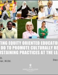 Cultivating Equity-Oriented Educators