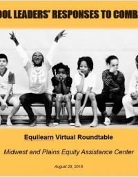 EquiLearn Virtual Roundtable: School Leaders' Responses to Combat Hate