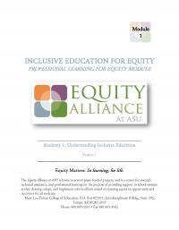 Inclusive Education for Equity Academy 1 - Understanding Inclusive Education (FM)