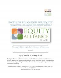 Inclusive Education for Equity Academy 3 - Exploring Inclusive Practices in Classrooms (FM)