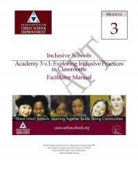 Inclusive Schools Academy 3: Exploring Inclusive Practices in Classrooms (FM)