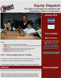 The State of Education for Students with Dis/abilities: Equity Considerations