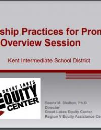 Leadership Practices for Promoting Equity Overview Session