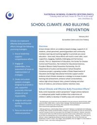 School Climate and Bullying Prevention