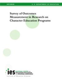 Survey of Outcomes Measurement in Research on Character Education Programs