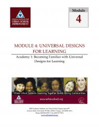 Universal Designs for Learning Academy 1 - Becoming familiar with UDL (FM)